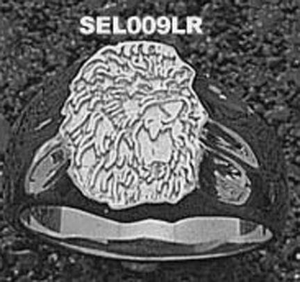 """Southeastern Louisiana Lions """"Lion Head"""" Ladies' Ring Size 7 - Sterling Silver Jewelry"""