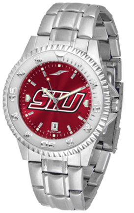 Southern Illinois Salukis Competitor AnoChrome Men's Watch with Steel Band