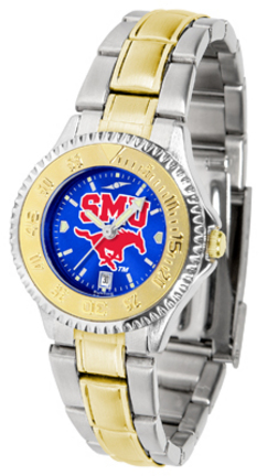 Southern Methodist (SMU) Mustangs Competitor AnoChrome Ladies Watch with Two-Tone Band