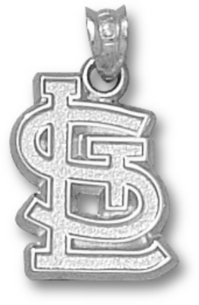 """St. Louis Cardinals 5/8"""" """"STL"""" Pendant - 10KT White Gold Jewelry"""