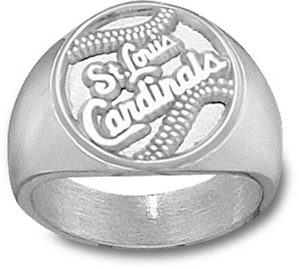 """St. Louis Cardinals """"Baseball"""" Men's Ring Size 10 1/2 - Sterling Silver Jewelry"""