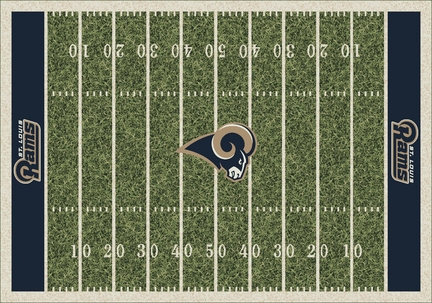 """St. Louis Rams 3' 10"""" x 5' 4"""" Home Field Area Rug"""