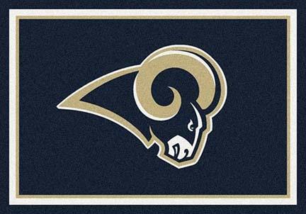 "St. Louis Rams 3' 10"" x 5' 4"" Team Spirit Area Rug (Navy Blue)"
