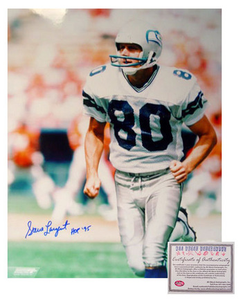 """Steve Largent Seattle Seahawks NFL Autographed """"Running"""" 16"""" x 20"""" Photograph with """"HOF 95"""" Inscription (Unframed)"""