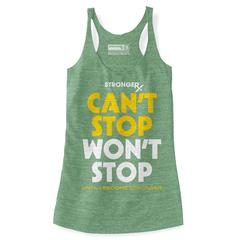 StrongerRX WTtCntStpLGLG Cant Stop Wont Stop Tank Top for Women Light Green - Large