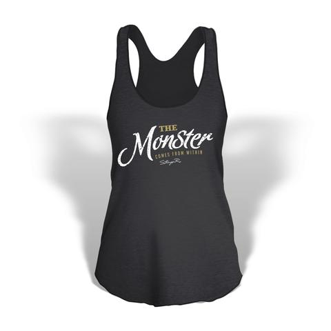 StrongerRX WTtMonstrBKSM The Monster Comes from within Tank Top for Women Black - Small