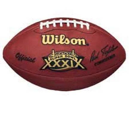 Super Bowl XXXIX Official Game Football by Wilson - New England Patriots vs. Philadelphia Eagles