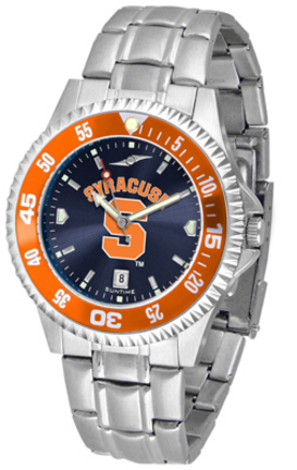 Syracuse Orangemen Competitor AnoChrome Men's Watch with Steel Band and Colored Bezel