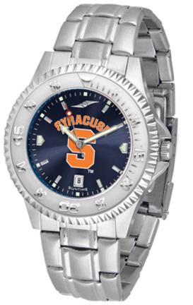 Syracuse Orangemen Competitor AnoChrome Men's Watch with Steel Band