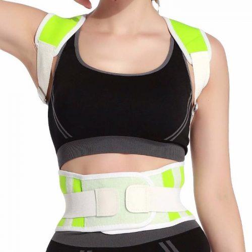 Tagco USA EF-POBPCB-GRE-M Adjustable Posture-Support Brace & Double-Compression Belt Green - Medium & Large