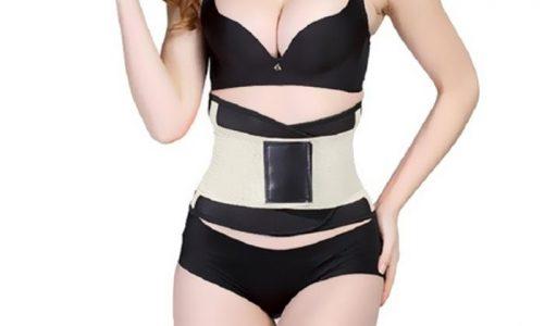 Tagco USA EF-SDCWB-CRE Womens Shaping Double-Compression Waist Belt Creme - Medium & Large