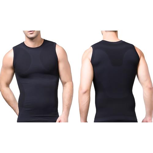 Tagco USA TI-QDCS-BLA-S Mens Quick Dry Compression Shirt Black - Small