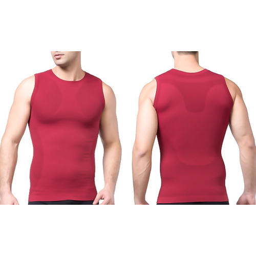 Tagco USA TI-QDCS-RED-S Mens Quick Dry Compression Shirt Red - Small