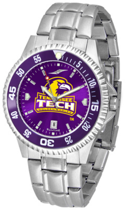 Tennessee Tech Golden Eagles Competitor AnoChrome Men's Watch with Steel Band and Colored Bezel