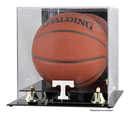 Tennessee Volunteers Golden Classic Logo Basketball Display Case with Mirror Back