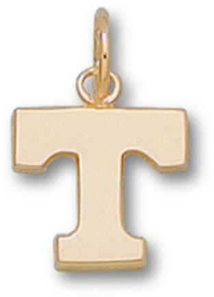 "Tennessee Volunteers ""Power T"" 3/8"" Charm - 14KT Gold Jewelry"