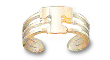 """Tennessee Volunteers Power """"T"""" Toe Ring - 10KT Gold Jewelry"""