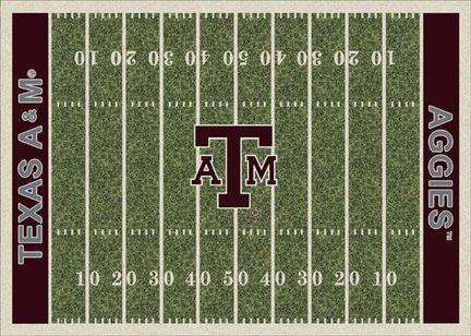 """Texas A & M Aggies 3' 10"""" x 5' 4"""" Home Field Area Rug"""