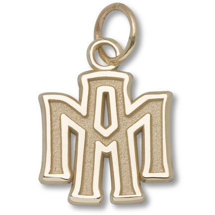 """Texas A & M Aggies 3/8"""" """"ATM"""" Charm - 10KT Gold Jewelry"""