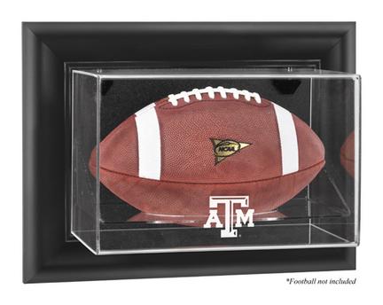 Texas A & M Aggies Black Framed Wall Mountable Logo Football Display Case