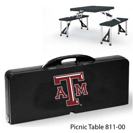 Texas A & M Aggies Portable Folding Table and Seats