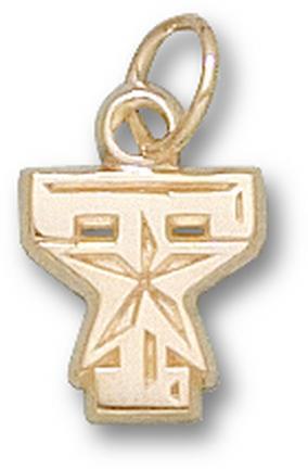 "Texas A & M Aggies ""T Star Logo"" 3/8"" Charm - 14KT Gold Jewelry"