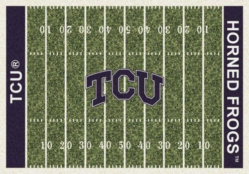 """Texas Christian Horned Frogs 3' 10"""" x 5' 4"""" Home Field Area Rug"""