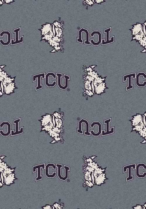 """Texas Christian Horned Frogs 3' 10"""" x 5' 4"""" Team Repeat Area Rug"""
