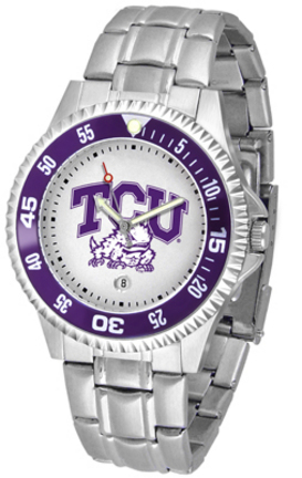 Texas Christian Horned Frogs Competitor Men's Watch with Steel Band