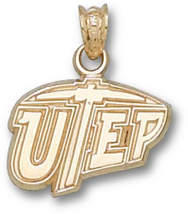 "Texas (El Paso) Miners ""UTEP"" 7/16"" Pendant - 10KT Gold Jewelry"