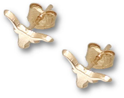 "Texas Longhorns 1/8"" Solid ""Longhorn"" Post Earrings - 10KT Gold Jewelry"