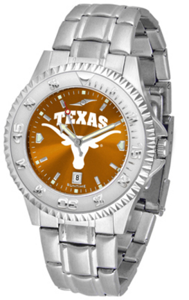 Texas Longhorns Competitor AnoChrome Men's Watch with Steel Band