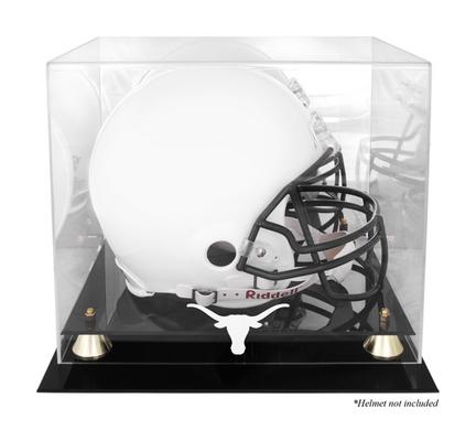 Texas Longhorns Golden Classic Logo Football Helmet Display Case with Mirror Back