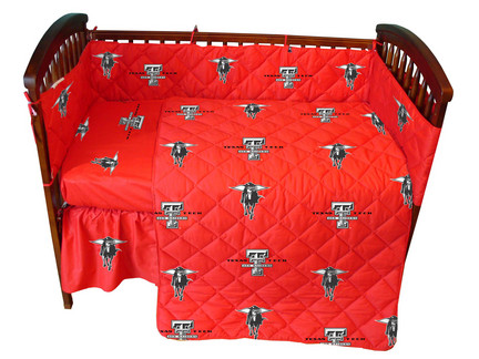 Texas Tech Red Raiders 5 Piece Baby Crib Set