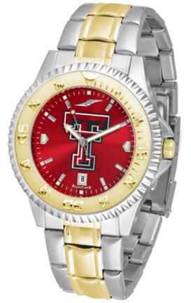 Texas Tech Red Raiders Competitor AnoChrome Two Tone Watch