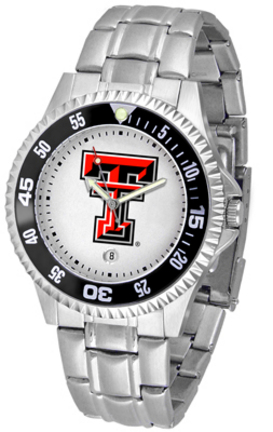 Texas Tech Red Raiders Competitor Watch with a Metal Band