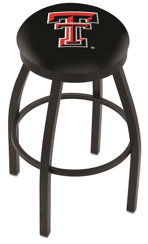 "Texas Tech Red Raiders (L8B2B) 30"" Tall Logo Bar Stool by Holland Bar Stool Company (with Single Ring Swivel Black Solid Welded Base)"