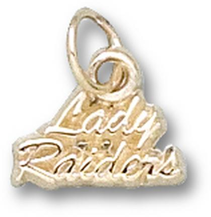 "Texas Tech Red Raiders ""Lady Raiders"" Charm - 14KT Gold Jewelry"