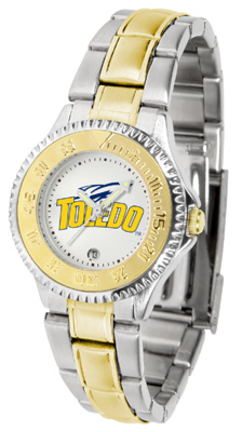 Toledo Rockets Competitor Ladies Watch with Two-Tone Band