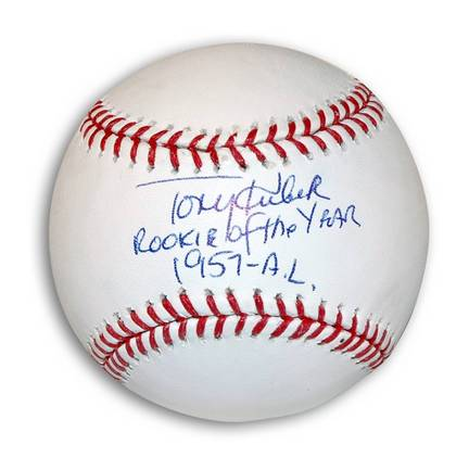 "Tony Kubek Autographed MLB Baseball Inscribed ""Rookie of the Year 1957-AL"