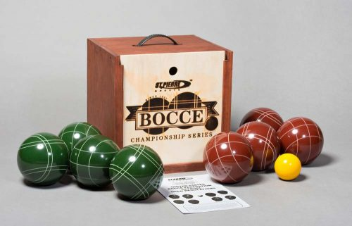 Tournament Series Bocce Set in Mahogany Wood Box from St. Pierre