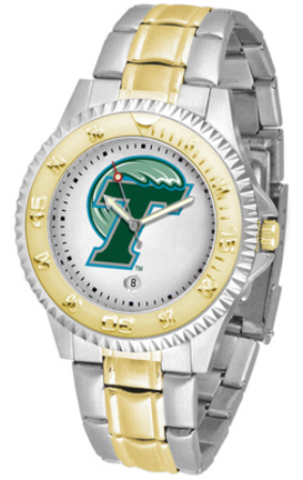 Tulane Green Wave Competitor Two Tone Watch