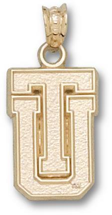 "Tulsa Golden Hurricane ""TU"" Pendant - 10KT Gold Jewelry"