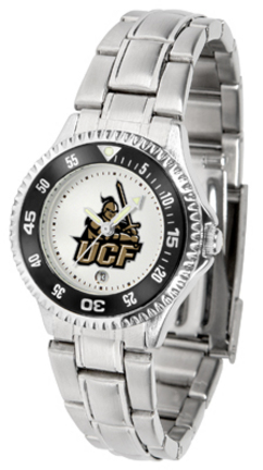 UCF (Central Florida) Knights Competitor Ladies Watch with Steel Band