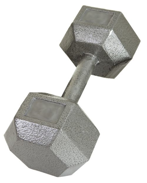 USA Sports by Troy Barbell IHD-075 Solid Hex Dumbbell - 75 Pounds - Sold as a single dumbbell