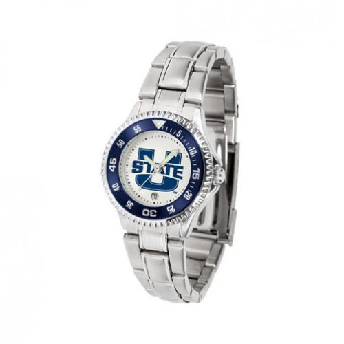 Utah State Aggies Competitor Ladies Watch with Steel Band