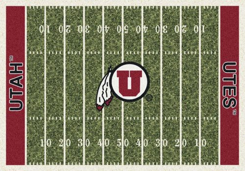 "Utah Utes 3' 10"" x 5' 4"" Home Field Area Rug"