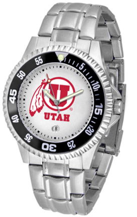 Utah Utes Competitor Watch with a Metal Band