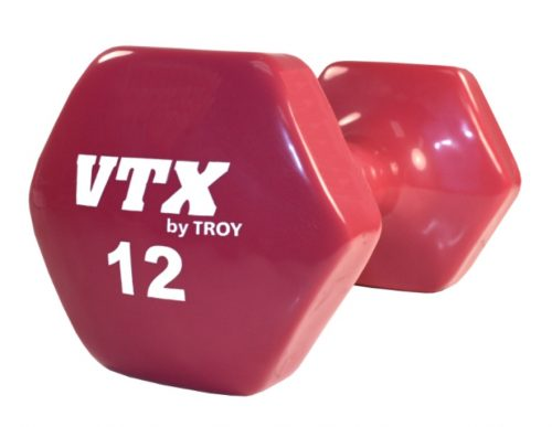 VTX by Troy Barbell VD-012 12 Lb. Vinyl Dumbbell - Sold as a single dumbbell