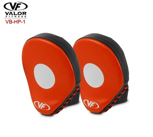 Valor Fitness VB-HP-1 Boxing Hand Punching Guards & Focus Mitts - Red Black & Polyurethane Leather